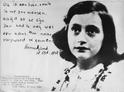 Human Rights Privacy (Anne Frank Photo 1942)